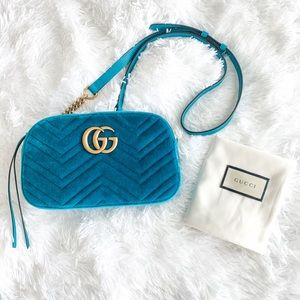 Gucci Marmont Turquoise Camera Bag | NWT